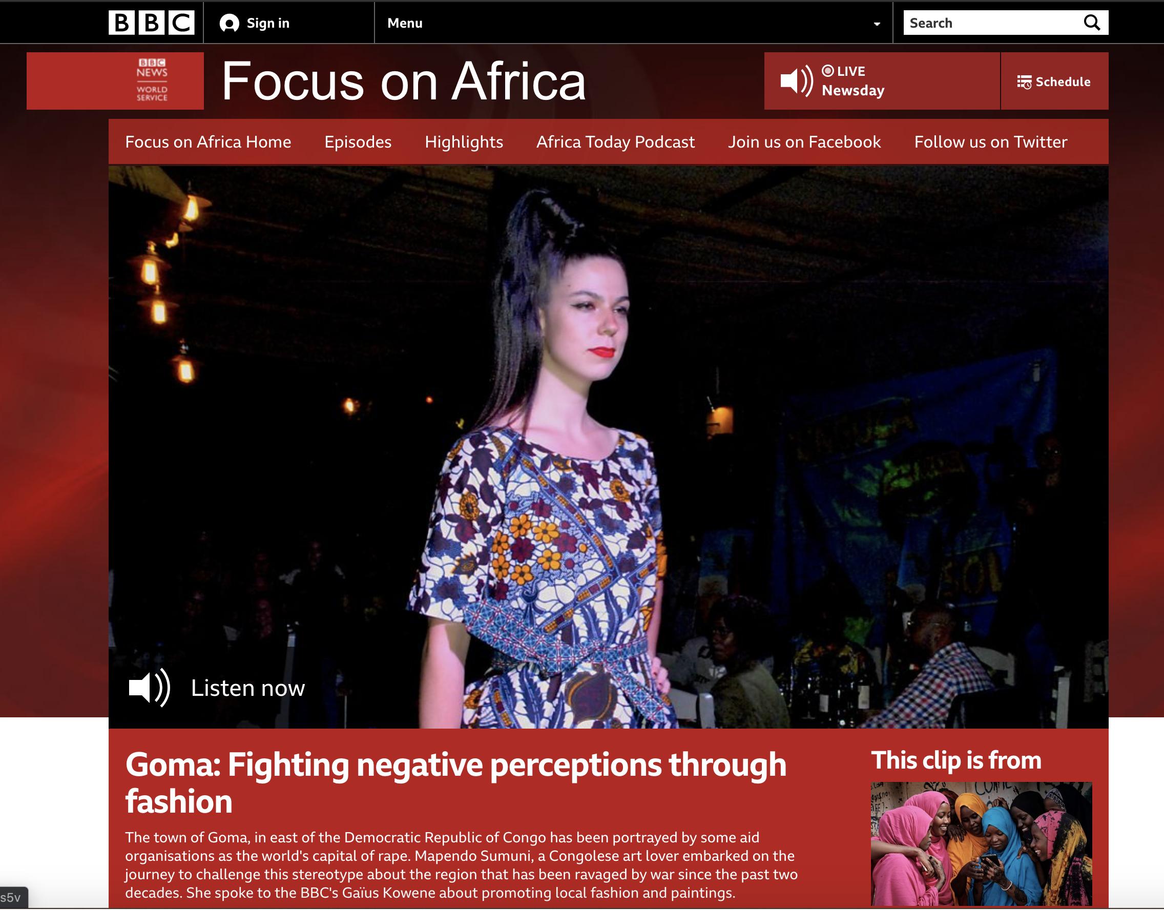 Goma Fashion Show on the BBC